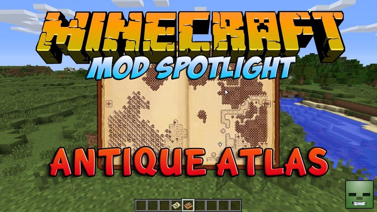 Minecraft Mods: Antique Atlas (Mapamundi a lo retro)[Forge ...