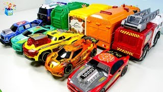 Learning Color Dickie Toys Fire Engine Garbage Truck Disney Cars McQueen Play for kids car toys
