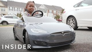 Dad Bought His Daughter Her Own Toy Tesla