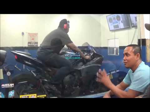 Yamaha YZF R1 Mussan Exhaust - Dyno Health CheckMotodynamics Technology Malaysia