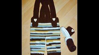 Babyhose - Trägerhose -. Latzhose - Hose häkeln - crochet trousers