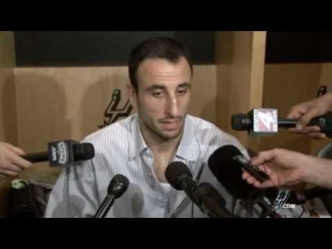 Manu Ginobili - Postgame 4/25/10 Video