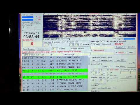 Amateur Digital mode JT65 many stations on 20 meters may 13th 2013