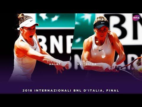 Simona Halep vs. Elina Svitolina | 2018 Internazionali BNL d'Italia Final | WTA Highlights