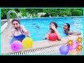 Su Topu Savaşı Havuz Oyunları Yarışmalar Eğlenceli Çocuk Videosu Dila Kent