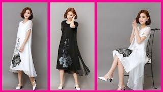 Cotton Summer Dress Style 2018    Simple Cotton Dresses for Women New Arrival