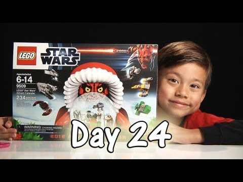 Day 24 LEGO STAR WARS Advent Calendar 2012 Review Set 9509 - Stop Motion & FREE CODE