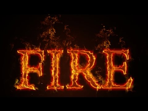 How to make Fire Text   Photoshop CC Tutorial - YouTube