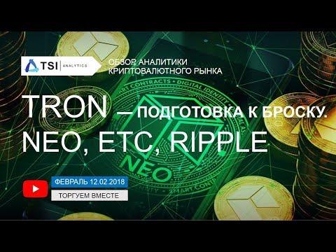 TRON - подготовка к броску. Ripple, NEO, Ethereum Classic | Прогноз криптовалют