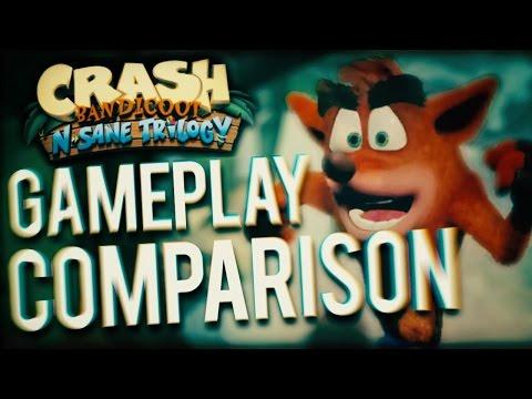 Crash Bandicoot N. Sane Trilogy Gameplay Comparison
