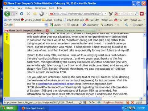 Joe Stack Manifesto/Suicide Note Plane Crash Austin Texas .wmv