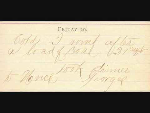 1888 diary  handwritten      genealogy  william Daroff , Mr Biggar, John Bodine margret Dehart