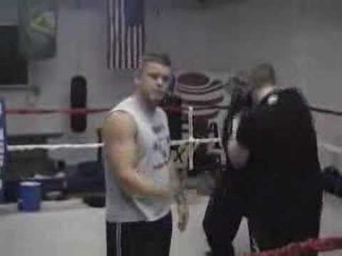 Boxing Training Defense Technique Drill. Image 1