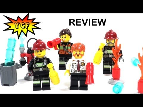 LEGO CITY Firemen Pack 850618 Review - 2013 Battle Pack with 4 Minifigures & Accessories