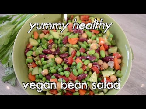 Easy Healthy Vegan Bean Salad