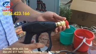 Súng rửa xe cao áp ngắn - Thiết kế gọn nhẹ