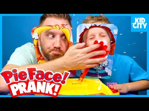 Pie Face Showdown Challenge Prank & Family Fun Game Time by KIDCITY