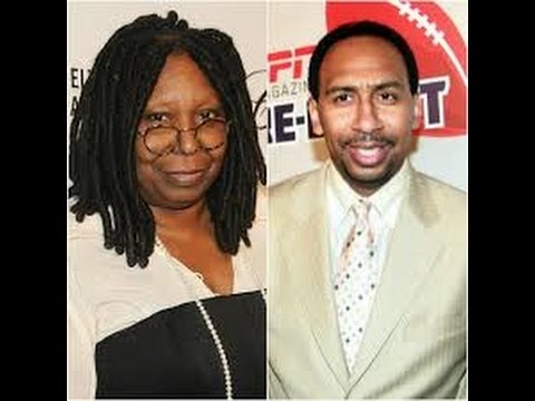 Stephen Smith & Whoopi Goldberg get suspended and attacked for their domestic violence comments