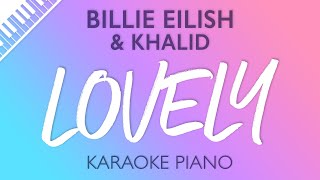 Lovely Piano Karaoke Instrumental Billie Eilish Khalid