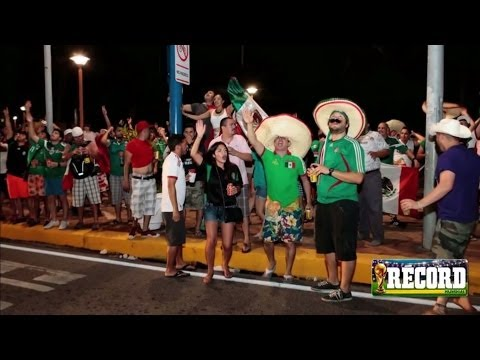 La Selección Mexicana y los aficionados se unen en Fortaleza