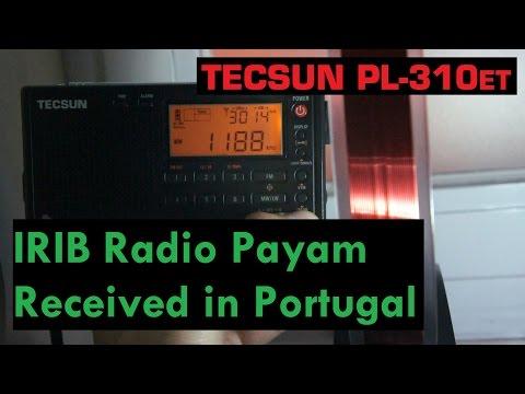 IRIB Radio Payam on MW from Iran received in Portugal - Tecsun PL-310ET