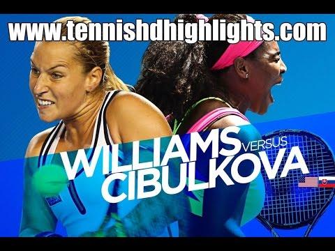 SERENA Williams vs Dominika Cibulková Highlights HD 1/4 Australian Open 2015