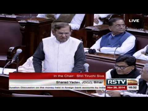 Sh. Sharad Yadav's comments on the issue of Black Money held abroad