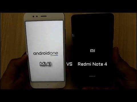 Mi A1 Vs Redmi Note 4 SpeedTest Comparison I Hindi