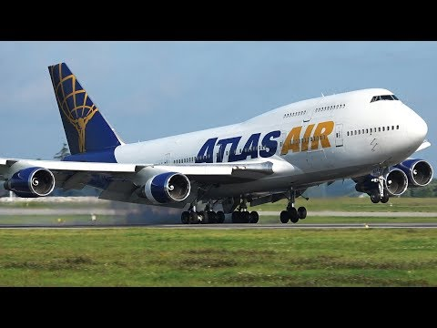 RARE | Atlas Air Boeing 747-400 At Gdansk Airport | US Military Deployment