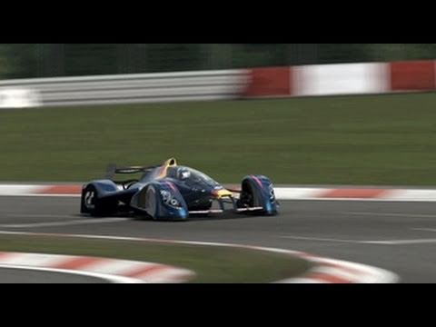 Sebastian Vettel driving GT5 RedbullX1 prototype at Nürburgring GP Course