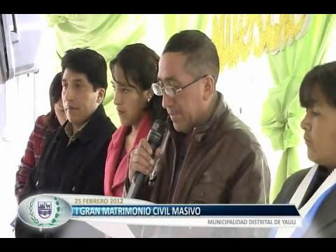 Matrimonio Civil Masivo - YAULI