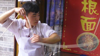 The Noodle Show (一根面, 刀削面,裤带面)- China Eats series 2017