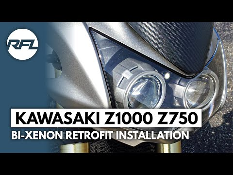 Kawasaki Z1000 Z750 Bi xenon Mini H1 projector headlight retrofit