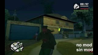 GTA San Andreas: cj peleando con el teléfono