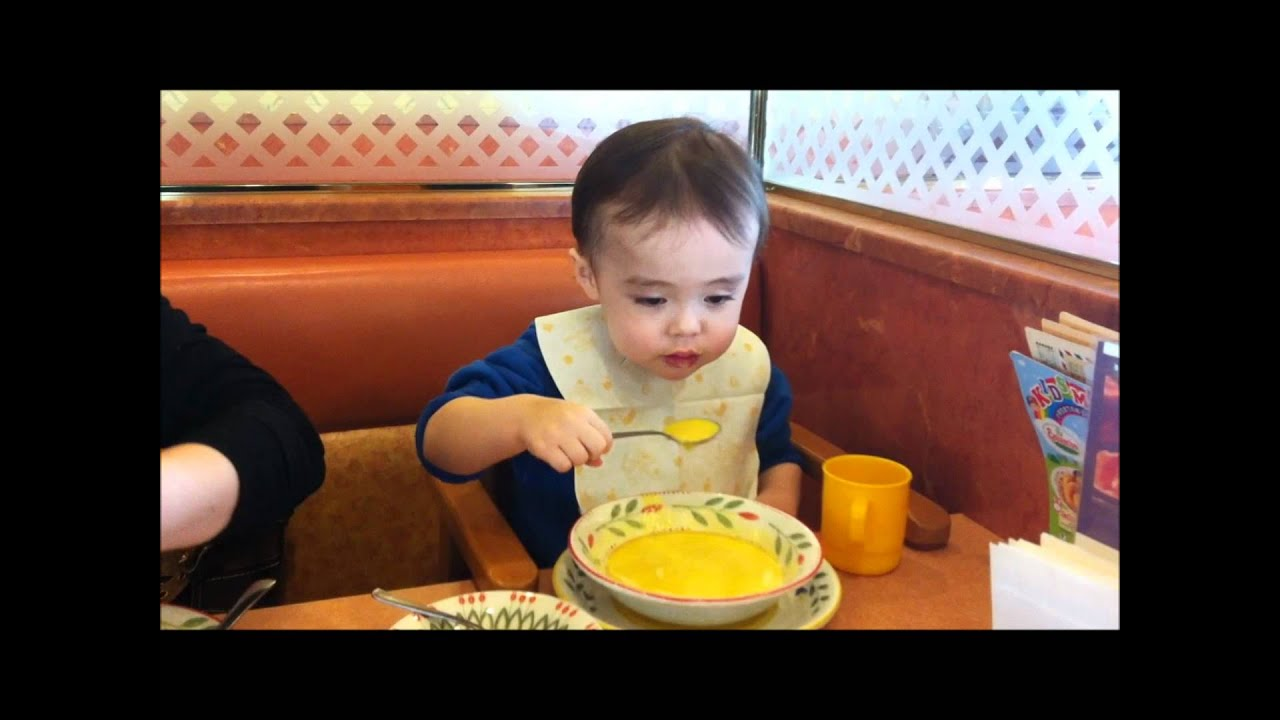 Toddler Eating Food  My Son  Aden  Eating Soup At