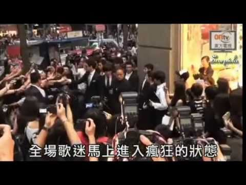 [Rain (Bi) News][Eng Sub]110528 ONTV_Rain @ MCM Event in Hong Kong &amp; QI QI talks about Rain