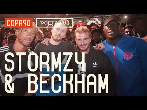 David Beckham and Stormzy Chill with Poet and Vuj Poet and Vuj Present