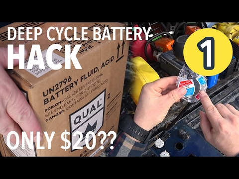 DEEP CYCLE BATTERY HACK?! Fix $400 battery for $20?! (Part 1)
