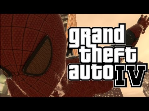 GTA 4:SPIDERMAN MOD! With Web Swing! - MOD SHOWCASE