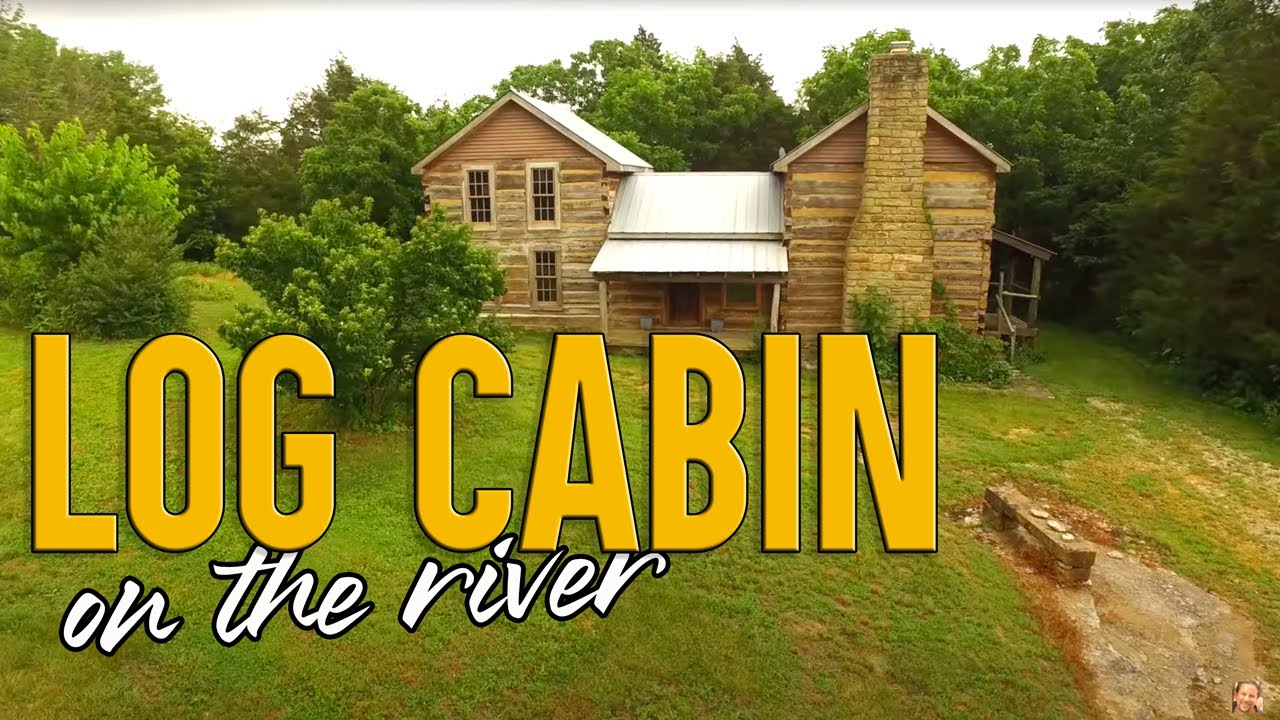 VIDEO of this Artist Retreat, 1800s Log Cabin 8 acres, frontage on Kentucky River