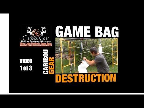Caribou Gear Game Bag Destruction Video 1 of 3