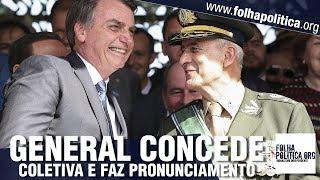 General Ramos faz fortes declarações e concede coletiva de imprensa ao integrar o Governo Bolsonaro