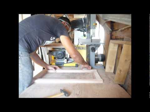 sportelli in legno per cucina in muratura - YouTube