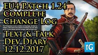 EU4 – Patch 1.24 Japan -  Full Change Log / Patch Notes - Dev Diary 12th December 2017