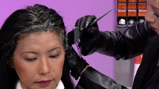 Color Service: Retouching Gray Hair by Kadus Professional