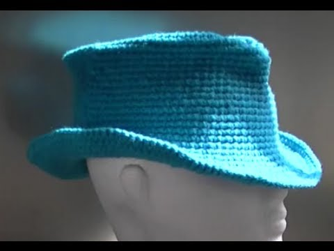 Fedora / Cowboy / Cowgirl Hat Crochet Tutorial Part 1 of 3 ...