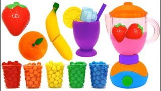 Toy Blender Playset and Wooden Velcro Toys for Kids