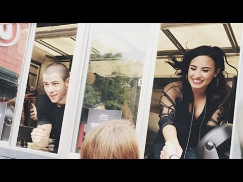 Demi Lovato & Nick Jonas Surprise Fans With Ice Cream Truck & Get Ready To Kick Off Tour!