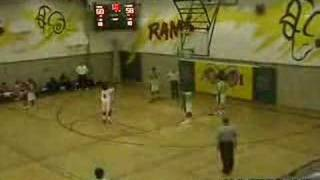 Last second score on basketball match, impossible long shoot