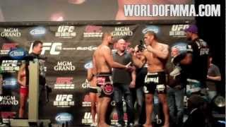 Cain Velasquez and Antonio Silva at UFC 146 Weigh In